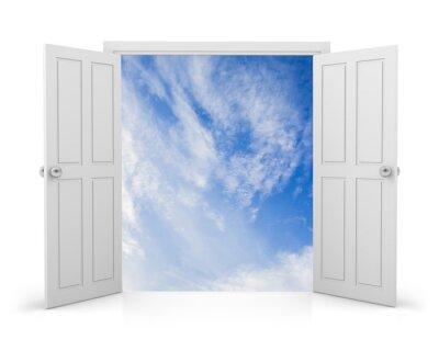 Наклейка дверь