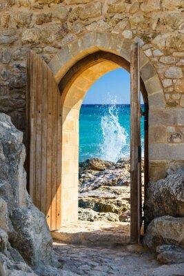 Наклейка door open sea