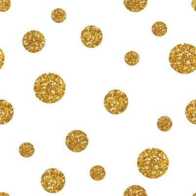 Наклейка DOTS бесшовные модели с золотой текстурой блеск.