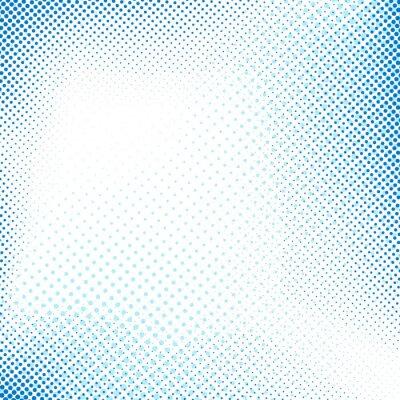 Наклейка Пунктирная синий абстрактный фон ретро