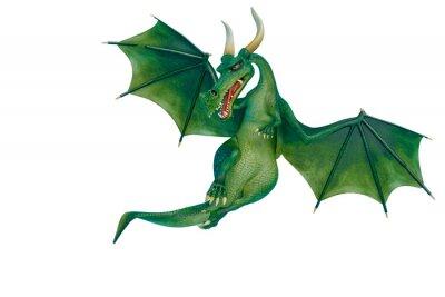 Наклейка dragon cartoon is watchingn