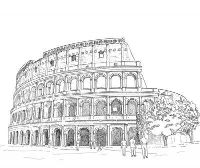Наклейка Рисование Римского Колизея