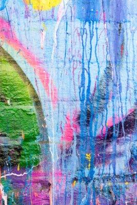 Наклейка Капель краски граффити стены