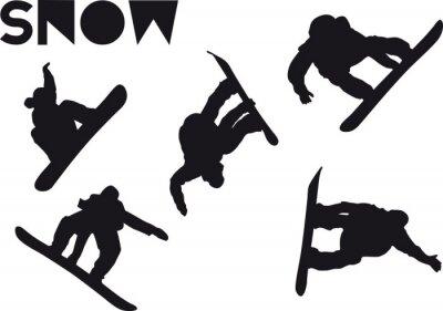 Наклейка Друк сноубордист набор прыжок