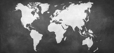 Наклейка карта земли на фоне
