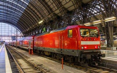 Наклейка Электровоз с региональном поезде во Франкфурте, Германия