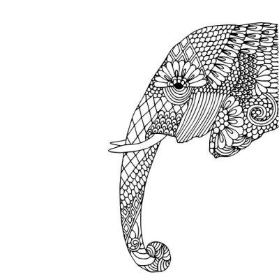 Наклейка Слон глава