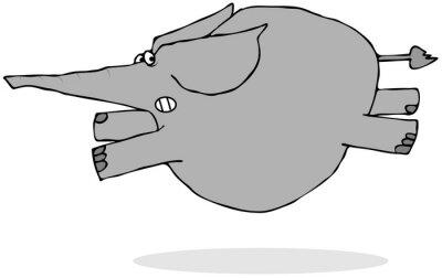Наклейка Слон испугается