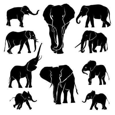 Наклейка Слон Силуэт обновления