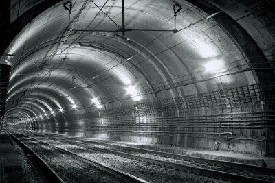 Наклейка Пустой туннель метро