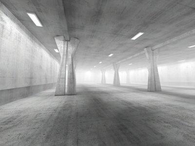 Наклейка Пустой подземной автостоянкой 3D-рендеринга