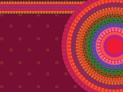 Наклейка Этническая и Красочный дизайн хной мандалы, очень сложные и легко редактируемый