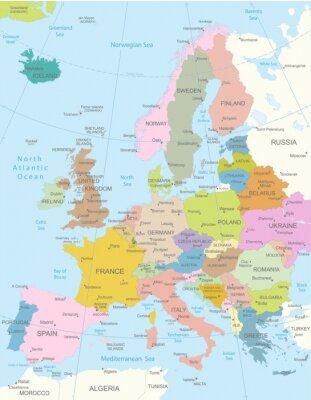 Наклейка Европа-высоко детализированные map.Layers используются.