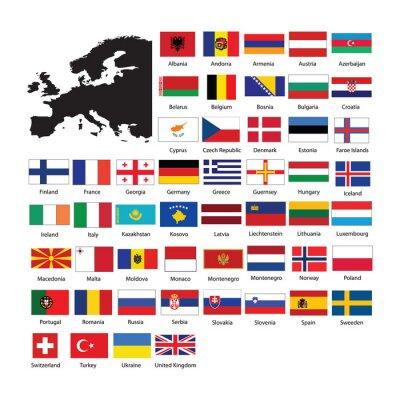 Наклейка Europe flags
