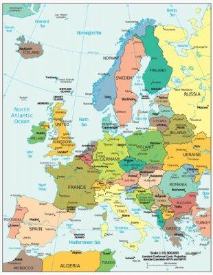 Наклейка Европа политические разногласия