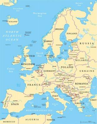 Наклейка Политическая карта Европы