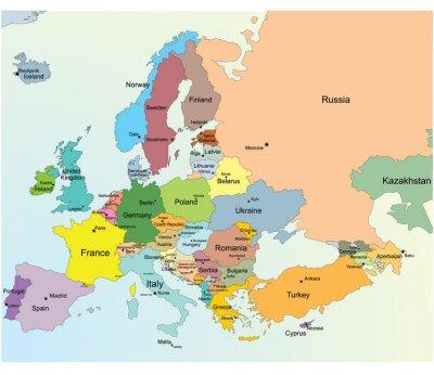 Наклейка Европейская Карта.