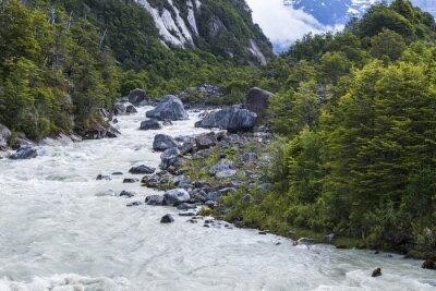 Наклейка река Exploradores, Чили