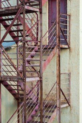 Наклейка Наружные лестницы пожарной лестницы на изготовление здания