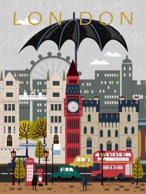 Наклейка выделяющийся Великобритания путешествия плакат