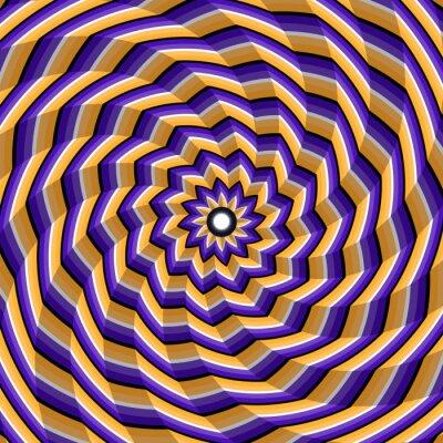 Наклейка Грановитая спираль скручивание к центру. Абстрактные векторные фон оптическая иллюзия.