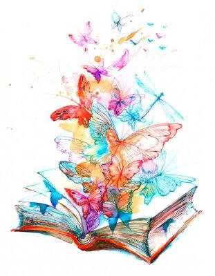 Наклейка фея книга