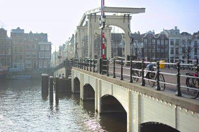 Наклейка Известный Тощий мост, Амстердам