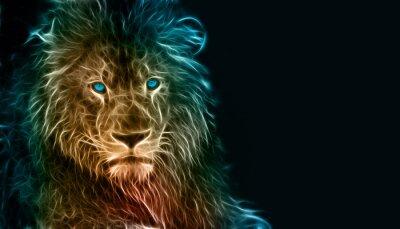 Наклейка Фэнтези цифровое искусство льва