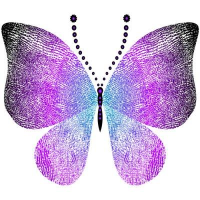 Наклейка Фэнтези шероховатый старинные бабочка