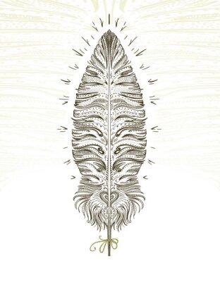 Наклейка Feather ornamental symbol