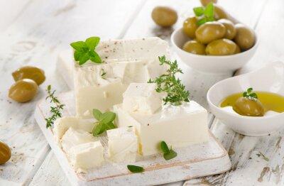 Наклейка Сыр фета с оливками.