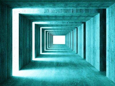 Наклейка прекрасный образ 3d concretet туннеля абстрактном фоне