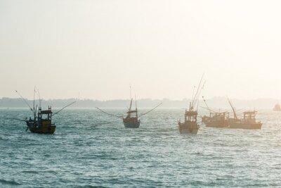 Наклейка Рыбацкие лодки
