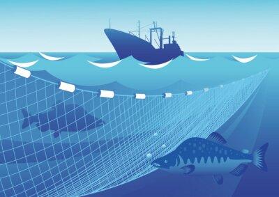 Наклейка Рыбалка в море