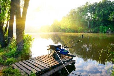 Наклейка Рыбалка на реке