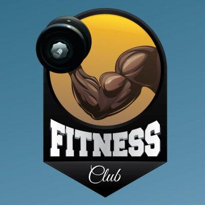 Наклейка Фитнес-клуб эмблема иллюстрация