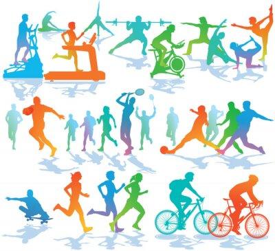Наклейка Фитнес и спорт
