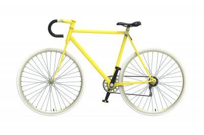 Наклейка Исправлена передач велосипед город Цвет смешивания изолированных фоне