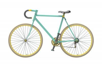 Наклейка Исправлена передач велосипед цвет город смешивания изолированных фоне