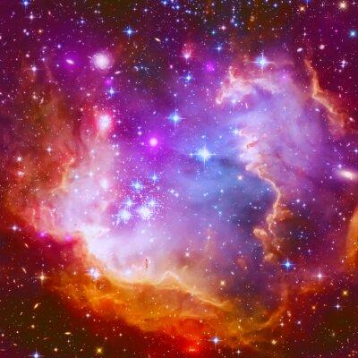 Наклейка Пылающий звезда туманности