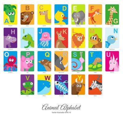 Наклейка Плоский алфавит для животных