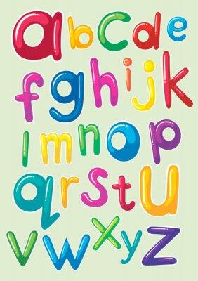 Наклейка Шрифт дизайн с английского алфавитов