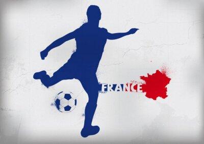 Наклейка Foot Франция Граффити