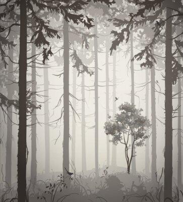 Наклейка лес