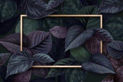 Наклейка Forest leaf frame