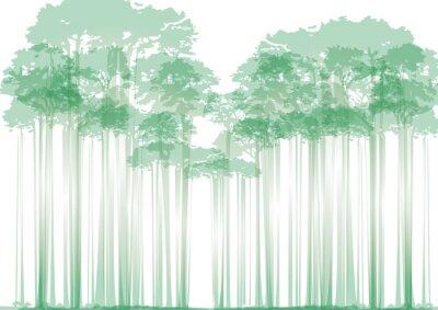 Наклейка лес на нейтральном фоне