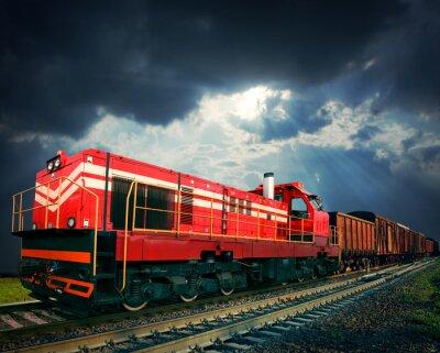 Наклейка Товарный поезд