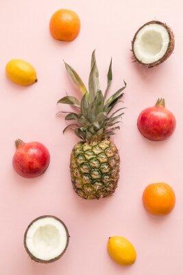 Наклейка Свежий фон из фруктов