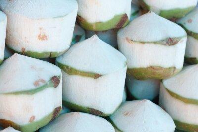 Наклейка Свежие кокосы на рынке