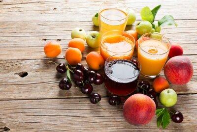 Наклейка Свежие фрукты соки